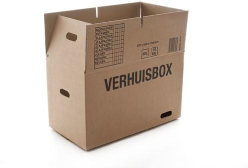 VERHUISDOOS BUDGET 370X650X350MM DUBBELGOLF BRUIN