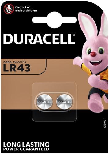 BATTERIJ DURACELL LR43 ALKALINE 2PCK 2 Stuk