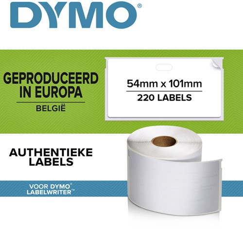 LABEL ETIKET DYMO 99014 54MMX101MM BADGE WIT 220 Stuk
