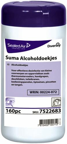MACHINEREINIGER SUMA ALCOHOLDOEKJES 160 STUKS 1 Pak
