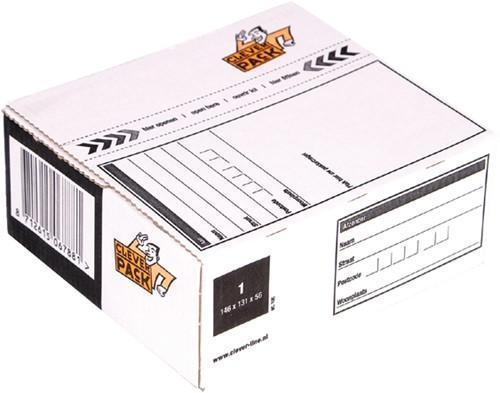 POSTPAKKETBOX 1 CLEVERPACK 195 146X131X56MM 25 Stuk