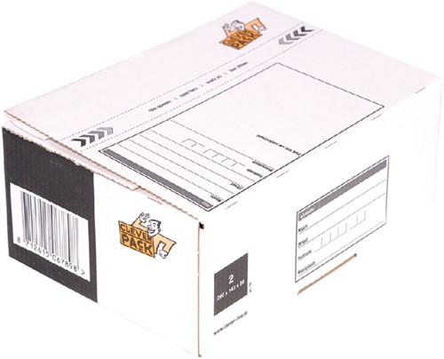 POSTPAKKETBOX 2 CLEVERPACK 200X140X80MM 1 Stuk