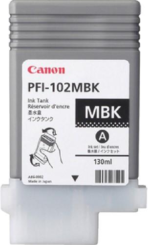 INKCARTRIDGE CANON PFI-102 MAT ZWART 1 Stuk