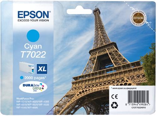 INKCARTRIDGE EPSON T702240 HC BLAUW 1 Stuk
