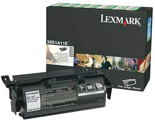 TONERCARTRIDGE LEXMARK X651A11E PREBATE 7K ZWART 1 STUK