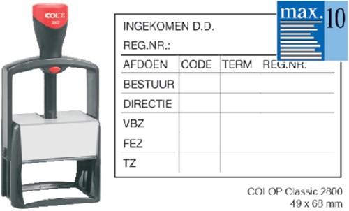 TEKSTSTEMPEL COLOP 2800 CLASSIC BON 10R 68X49MM 1 Stuk
