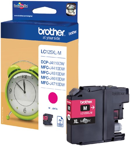 INKCARTRIDGE BROTHER LC-125XL ROOD 1 Stuk