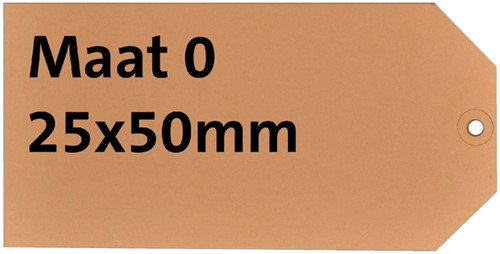 LABEL HF2 NR0 25X50MM KARTON 200GR CHAMOIS 1000 Stuk