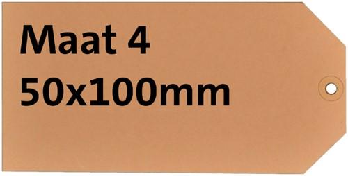 LABEL HF2 NR4 50X100MM KARTON 200GR CHAMOIS 1000 Stuk