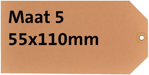 LABEL HF2 NR5 55X110MM KARTON 200GR CHAMOIS 1000 Stuk