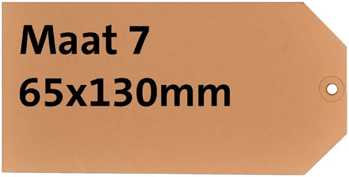 LABEL HF2 NR7 65X130MM KARTON 200GR CHAMOIS+RING 1000 Stuk
