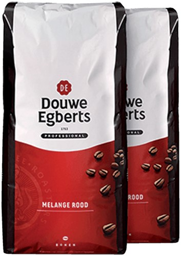 KOFFIE DOUWE EGBERTS ROODMERK BONEN 3000GR 3000 Gram