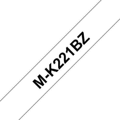 LABELTAPE BROTHER MK-221BZ 9MMX8M WIT/ZWART 1 Stuk