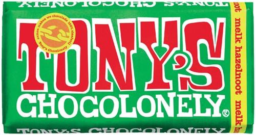 TONY'S CHOCOLONELY MELK HAZELNOOT 180GR 180 Gram