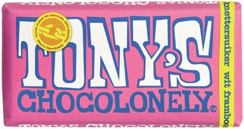 TONY'S CHOCOLONELY WIT FRAMBOOS KNETTERSUIKER 180GR 180 Gram