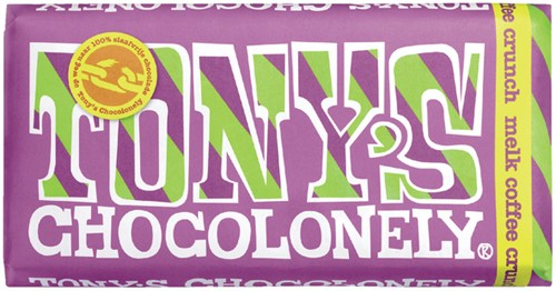 TONY'S CHOCOLONELY MELK COFFEE CRUNCH 180GR 180 Gram