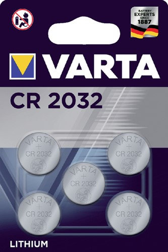 BATTERIJ VARTA CR2032 3V LITHIUM 5 Stuk