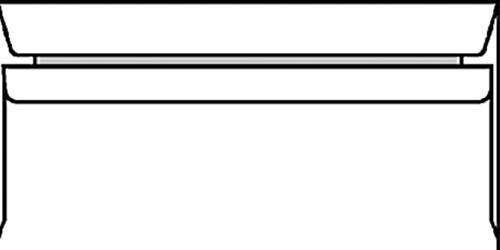 ENVELOP VENSTER C5/6 114X229MM VR ZK 80GR WIT 500 Stuk