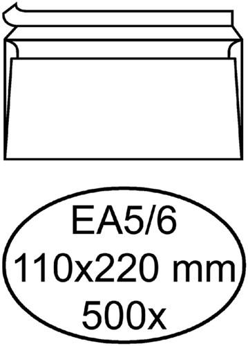 ENVELOP HERMES DIGITAL EA5/6 STRIP 90GR WIT 500 Stuk