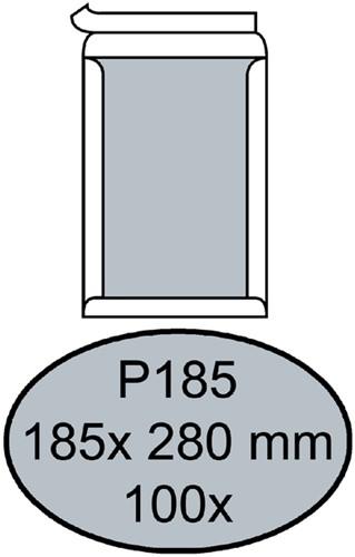 ENVELOP QUANTORE BORDRUG P185 185X280 ZK 120GR WIT 100 Stuk