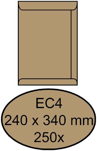 ENVELOP QUANTORE AKTE EC4 240X340 100GR BRUINKRAFT 250 Stuk