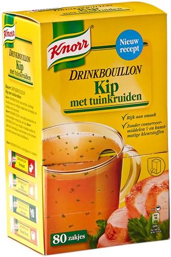 KNORR DRINKBOUILLON KIP TUINKRUIDEN DS 80 ST.