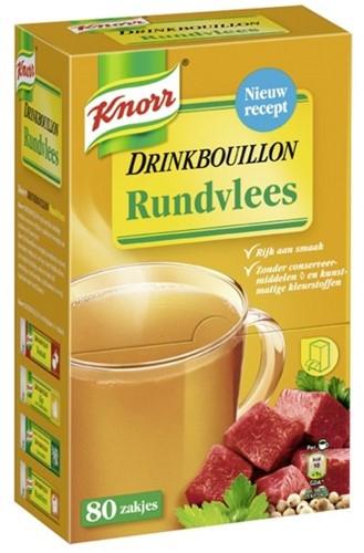 KNORR DRINKBOUILLON RUNDVLEES  DS 80 ST